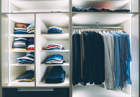 Mens dressing room Stock Photo