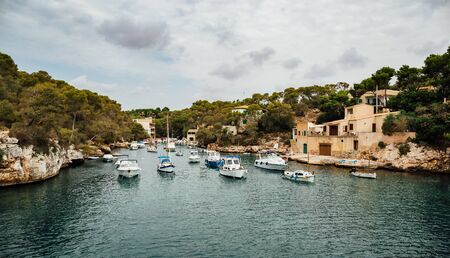 The old fishing village harbor of Cala Figuera, Mallorca, Spain.