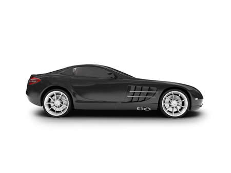 black car on a white background Stock Photo - 1157191