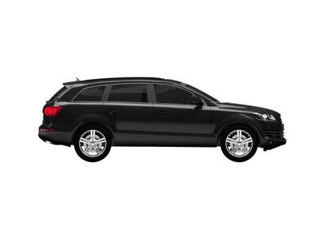 black car on a white background photo