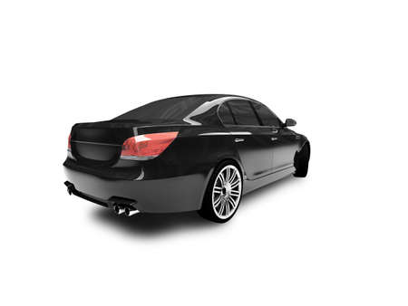 headlight: black car on a white background