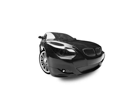 black car on a white background photo