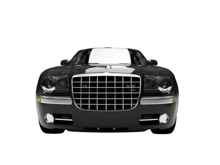 daimler: black car on a white background