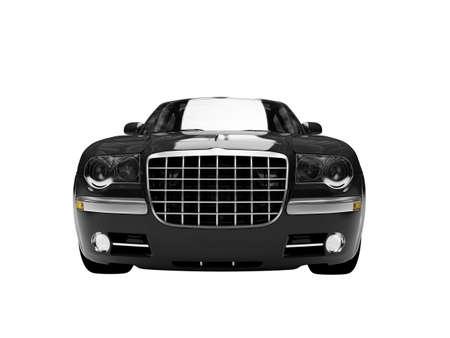 coche negro sobre fondo blanco