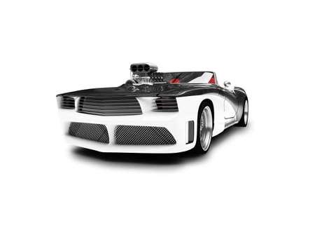 black super car on a white background photo