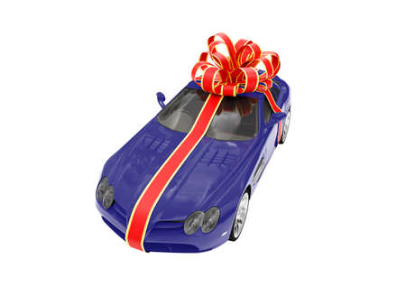 isolated gift car on a white background photo