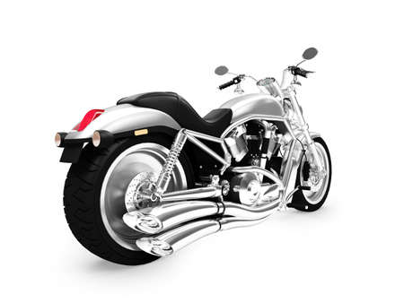 powerfull: isolated motorcycle on a white background Stock Photo