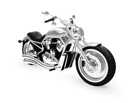 cycles: Moto isol� sur un fond blanc  Banque d'images