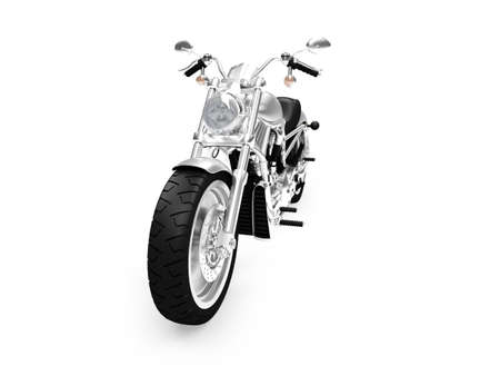 isolated motorcycle on a white background Stock Photo