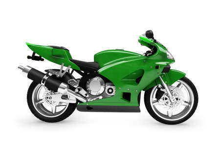 'cycles: isolated motorcycle on a white background Stock Photo