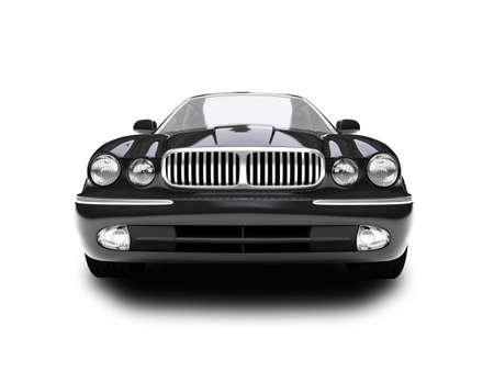 black car on a white background Stock Photo - 1214632
