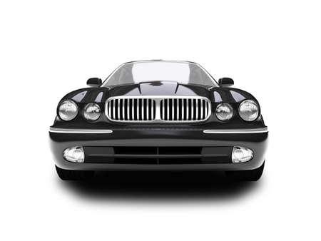 coche negro sobre fondo blanco Foto de archivo