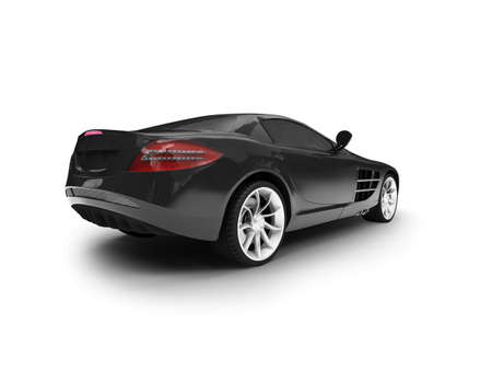 black car on a white background Stock Photo - 1214681