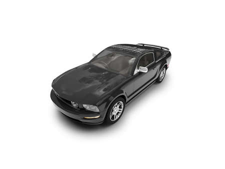 black car on a white background Stock Photo - 1214697