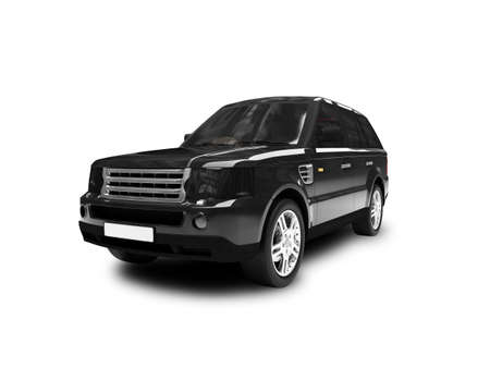 black car on a white background Stock Photo - 1214708