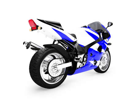 fullthrottle: isolated motorcycle on a white background Stock Photo