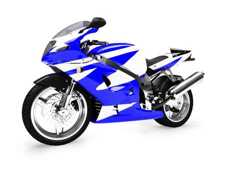 aislados de motocicletas sobre un fondo blanco