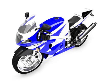 motocicleta aislada en un fondo blanco