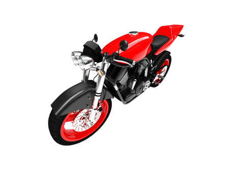 isolated motorcycle on a white background Stock Photo - 1214736
