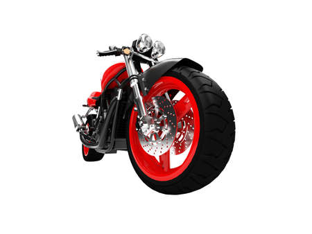isolated motorcycle on a white background Stock Photo - 1214737