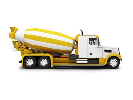 worksite: isolated concrete mixer