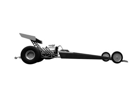 isolated dragster on white background Stock Photo - 2319025