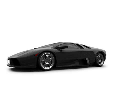 supercar: isolated sport car on white background