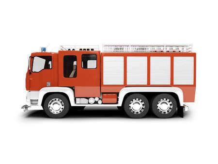 smoke alarm: isolated firetruck on white background