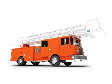 Firetruck sobre fondo blanco