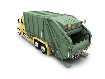 dumptruck: isolated trash dump car on white background