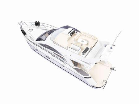 backgorund: isolated yacht on white backgorund