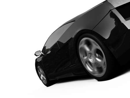 isolated closeup sport car on a white background photo