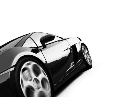 shiny car: isolated closeup sport car on a white background