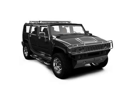 Fahrzeug isoliert auf weißem Hintergrund Standard-Bild