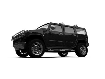 isolated vehicle on white background Stock Photo