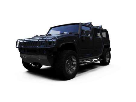 hummer: isolated vehicle on white background Stock Photo