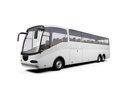isolated bus on white background photo