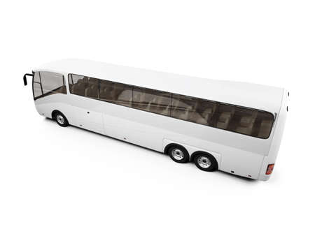 autobus: isolated bus on white background Stock Photo