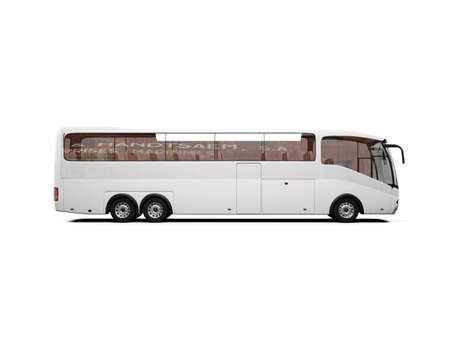 isolated bus on white background Stock Photo