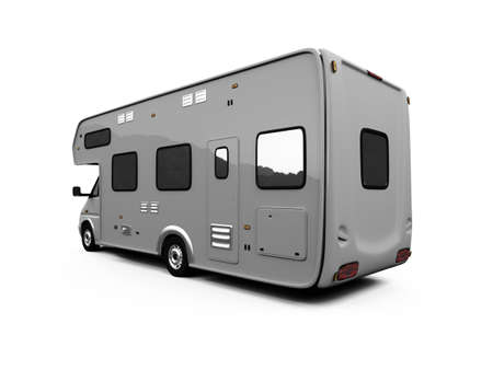 isolated camper on white background Stock Photo - 2632727