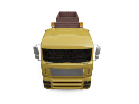 dumptruck: isolated long dump truck on white background