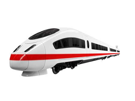 isolated white train on white background Stock Photo