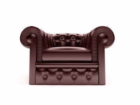 chester: isolated leather armchair