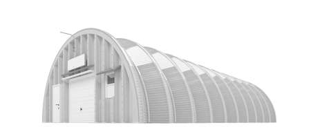 big reflective hangar on a white background Stock Photo - 3413775