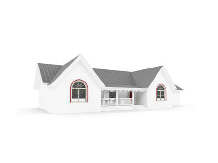 residental: isolated house on a white background
