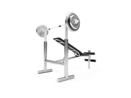 exercise machine: isolated muscle machine on a white background Stock Photo