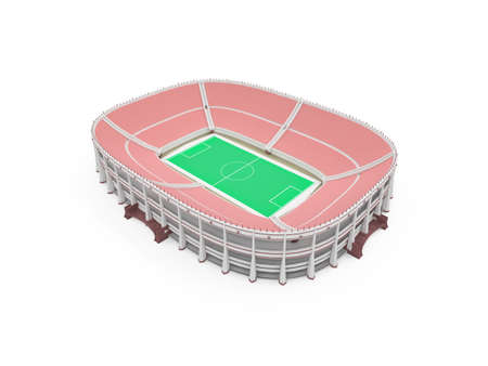 isolated stadium on a white background
