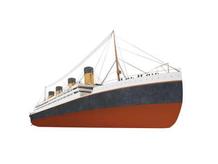 aislado m�s de buque de l�nea blanca  Foto de archivo