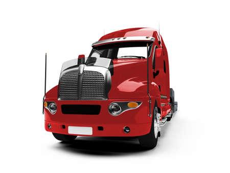 transportista de camiones aislados coche m�s blanco