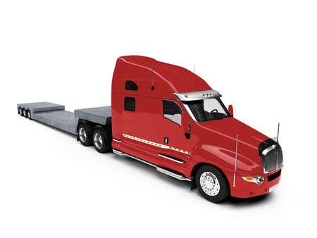 semitrailer: isolated car carrier truck over white